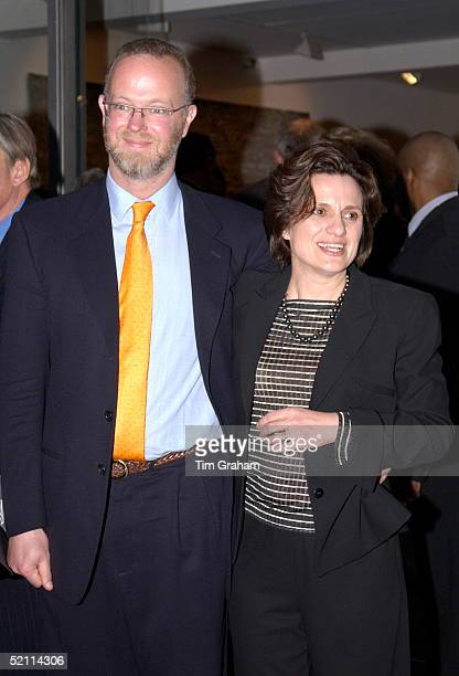 George Earl Of St Andrews With His Wife Sylvana The Countess Of St Andrews At The Launch Of His Brotherinlaw's New Art Gallery The Timothy Taylor...