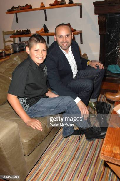 George Esquivel and son attends Rose Apodaca and Andy Griffith Invite You To Meet George Esquivel at Esquivel House on June 18 2009 in Los Angeles...
