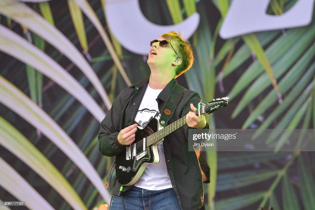 George Ezra performs live on stage during V Festival 2017 at Hylands Park on August 19, 2017 in Chelmsford, England.
