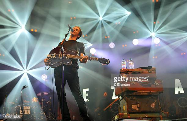 George Ezra performs on stage at Somerset House on July 13 2015 in London United Kingdom