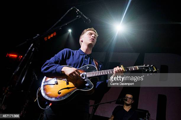 George Ezra performs on stage at The Academy Dublin on October 13 2014 in Dublin Ireland