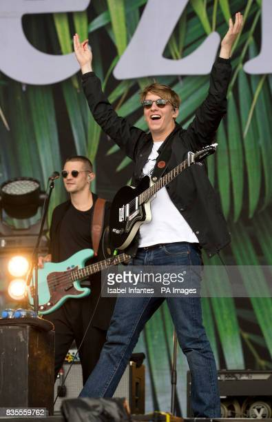 George Ezra plays at the MTV Stage during the V Festival at Hylands Park in Chelmsford Essex