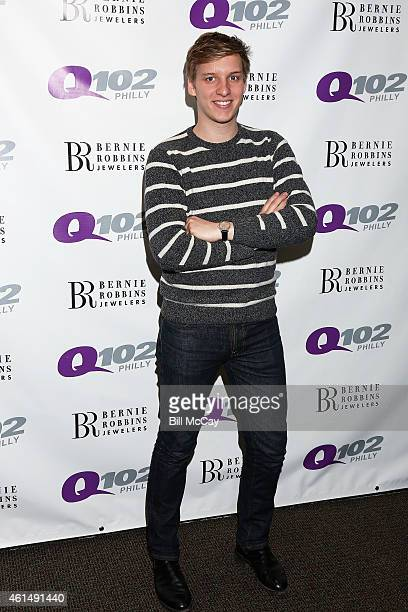 George Ezra poses at Q102 Performance Theater January 13 2015 in Bala Cynwyd Pennsylvania