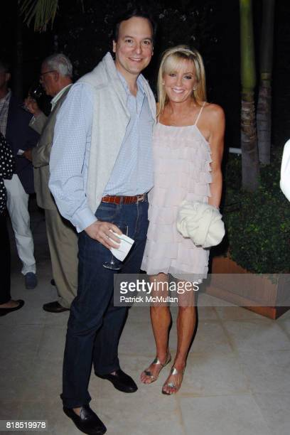 George Farias and Beatrice Reed attend Alex Hitz' Summer Dinner Party at a Private Residence on August 18th 2010 in Hollywood Hills California