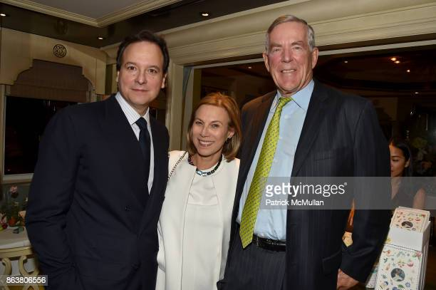 George Farias Judy Gordon Cox and Archie Cox attend the launch of Second Bloom Cathy Graham's Art of the Table hosted by Joanna Coles and Clinton...