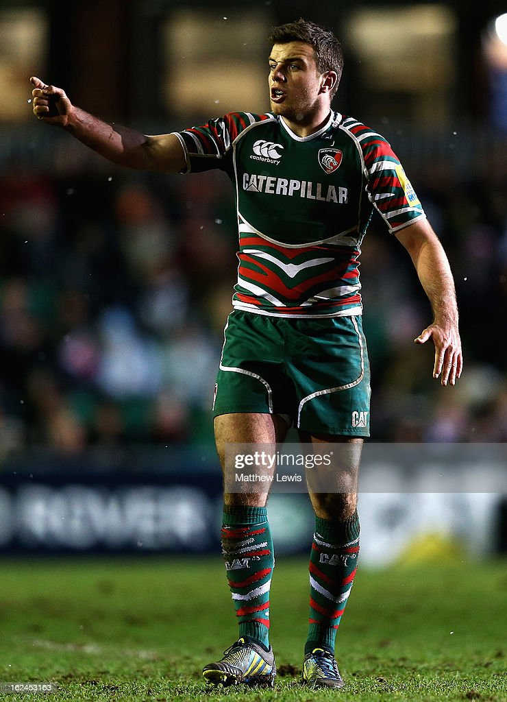 George Ford of Leicester in action during the Aviva Premiership match between Leicester Tigers and Saracens at Welford Road on February 23, 2013 in Leicester, England.