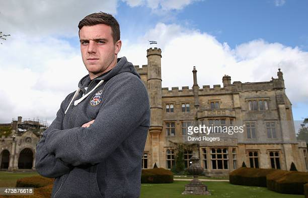 George Ford the Bath standoff poses during the Bath media session held at Farleigh House on May 18 2015 in Bath England
