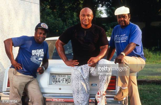 George Foreman boxer photographed outside Houston at the George Foreman Youth Camp Texas February 9 Houston Texas