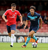 George Friend of Middlesbrough runs with the ball during the pre season friendly match between York City and Middlesbrough at Bootham Crescent on...