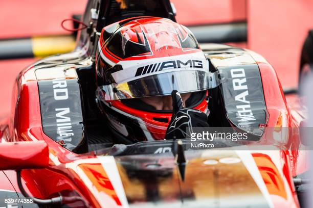 George from Great Britain of Art Grand Prix during the FIA GP3 championship at Circuit de SpaFrancorchamps on August 27 2017 in Spa Belgium
