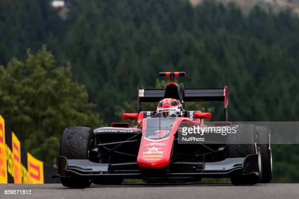George from Great Britain of Art Grand Prix Mercedes young driver program during the Race 1 of the FIA GP3 championship at Circuit de...