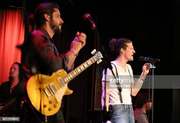 George Gekas Zack Feinberg David Shaw and Ed Williams of The Revivalists perform at Spotlight The Revivalists at The GRAMMY Museum on June 27 2017 in...