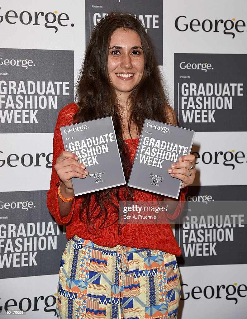 George Gold Award Winner Grace Weller during the Graduate Fashion Week awards show at The Old Truman Brewery on June 3, 2014 in London, England.