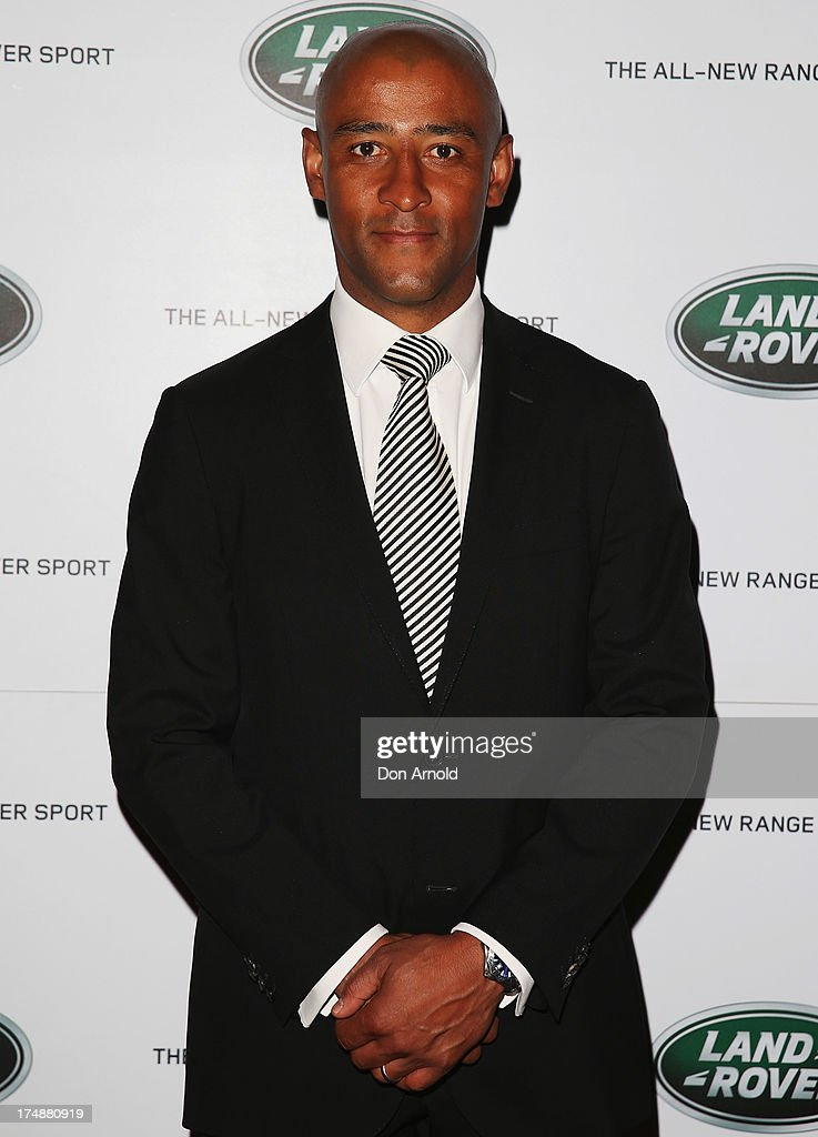 <a gi-track='captionPersonalityLinkClicked' href=/galleries/search?phrase=George+Gregan&family=editorial&specificpeople=161395 ng-click='$event.stopPropagation()'>George Gregan</a> arrives at a Range Rover Sport launch event at the Overseas Passenger Terminal on July 29, 2013 in Sydney, Australia.