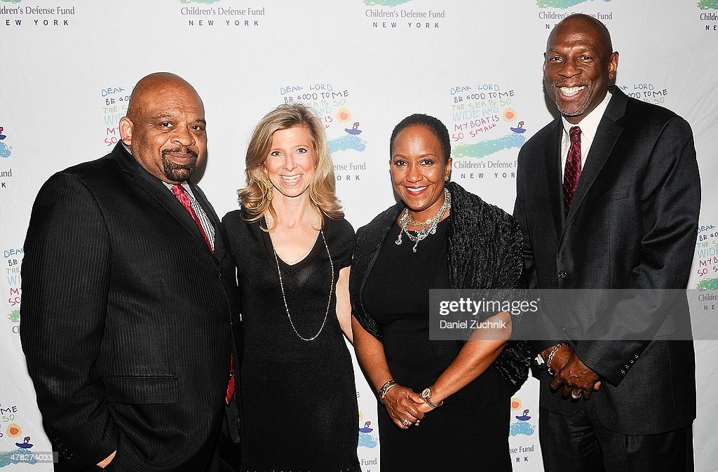 George Gresham, Leslie Cornfeld, Vicki Fuller and Geoffrey Canada attend the 40th Anniversary Children's Defense Fund 'Beat The Odds' Gala at The Pierre Hotel on March 12, 2014 in New York City.