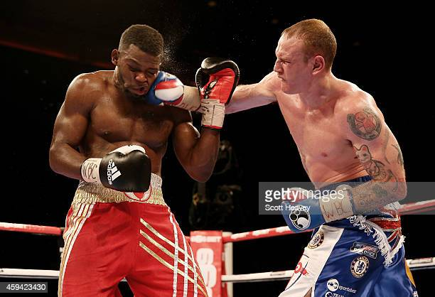 George Groves knocks out Denis Douglin during their Super Middleweight bout at Liverpool Echo Arena on November 22 2014 in Liverpool England