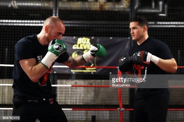 George Groves of Great Britain in action during a media workout at the Dale Youth ABC on October 10 2017 in London England