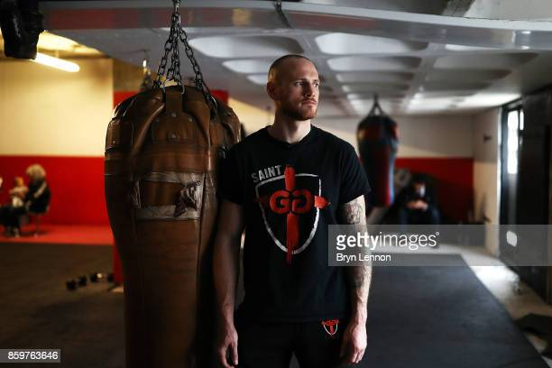 George Groves of Great Britain poses for a portrait during a media workout at the Dale Youth ABC on October 10 2017 in London England