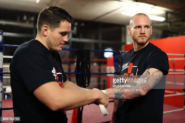 George Groves of Great Britain prepares for a media workout at the Dale Youth ABC on October 10 2017 in London England