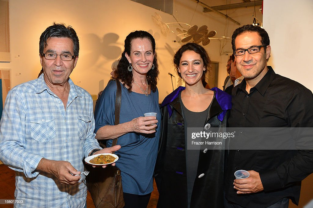 George Gutierrez, Patricia Gutierrez, Associate Director of Exhibitions for the Bakehouse Art Complex Ananda DeMello and Mark Hachem attend the Art Miami after party at Bakehouse Art Complex on December 8, 2012 in Miami, Florida.