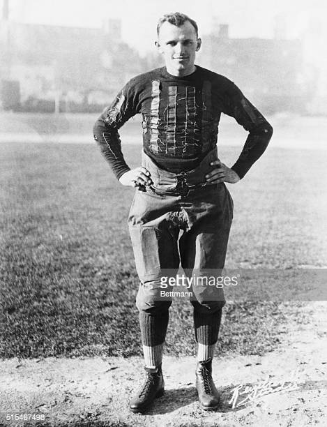 George Halas player/coach of the Chicago Bears is shown