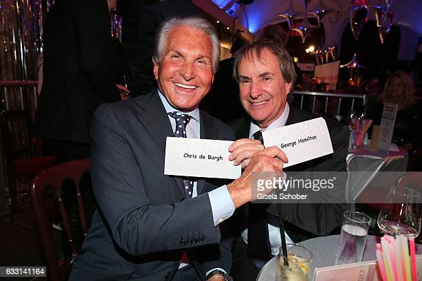 George Hamilton and Chris de Burgh during the Lambertz Monday Night 2017 at Alter Wartesaal on January 30 2017 in Cologne Germany