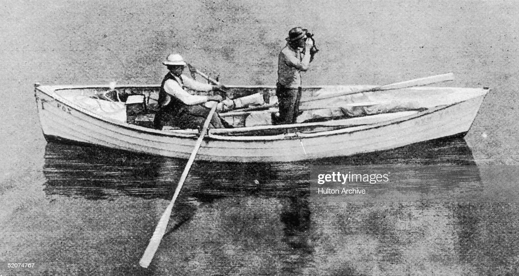 George Harbo and Frank Samuelson row an eighteen foot skiff named Fox across the Atlantic in 55 days, 8th August 1896. They were the first men to do so, and a hundred years later, their record has yet to be broken. Original Publication : The Graphic - pub. 1896
