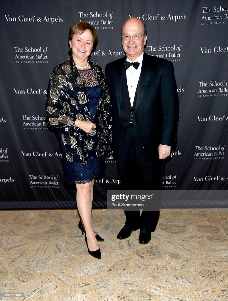 <a gi-track='captionPersonalityLinkClicked' href=/galleries/search?phrase=George+Harris&family=editorial&specificpeople=234590 ng-click='$event.stopPropagation()'>George Harris</a> (L) and Susan Harris attend The School of American Ballet 2015 Winter Ball at David H. Koch Theater at Lincoln Center on March 9, 2015 in New York City.