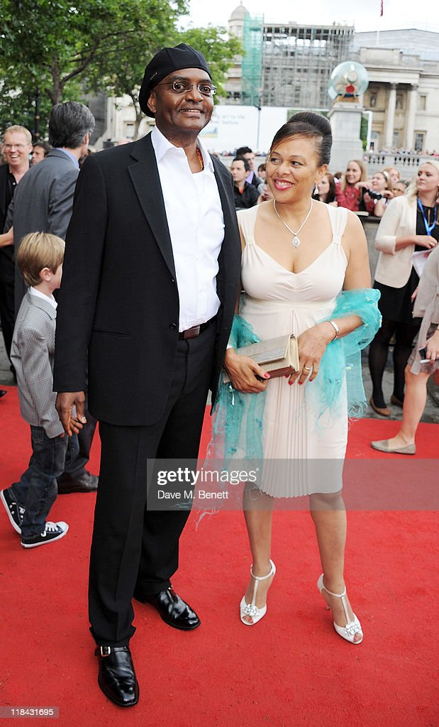 <a gi-track='captionPersonalityLinkClicked' href=/galleries/search?phrase=George+Harris&family=editorial&specificpeople=234590 ng-click='$event.stopPropagation()'>George Harris</a> (L) arrives at the World Premiere of 'Harry Potter And The Deathly Hallows Part 2' in Trafalgar Square on July 7, 2011 in London, England.