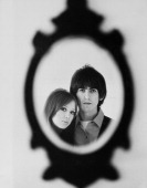 George Harrison And His Wife Patti Boyd During Sixties
