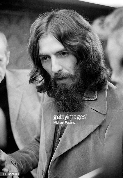 George Harrison at a Badfinger playback session Apple Studios London 30th September 1971