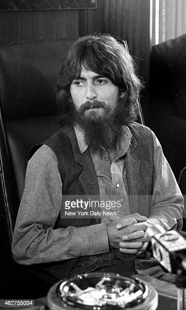 George Harrison at press conference about benefit for the East Pakistan Refugee Children at Madison Square Garden