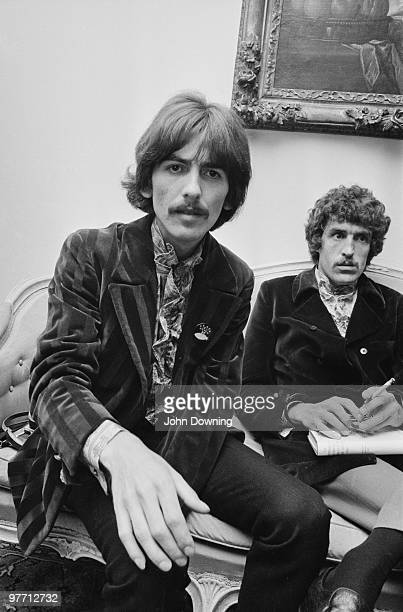 George Harrison at the press launch for the Beatles' new album 'Sergeant Pepper's Lonely Hearts Club Band' held at Brian Epstein's house at 24 Chapel...