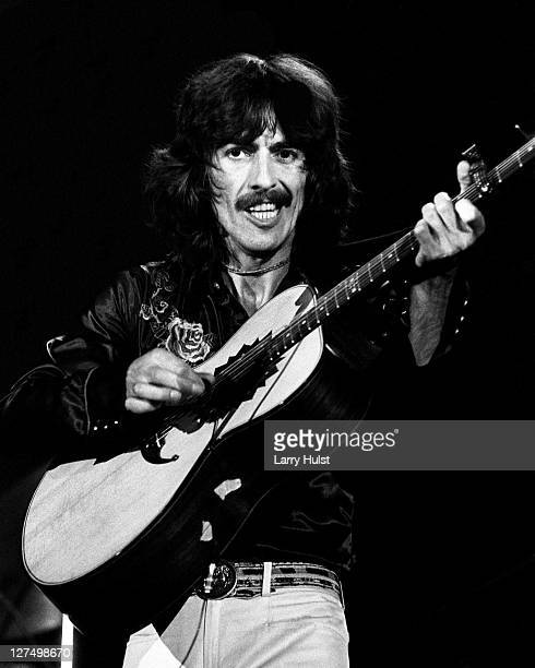 George Harrison performs at the Cow Palace in Daly City California on November 7 1974