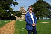 George Herbert 8th Earl of Carnarvon poses for a photograph at the castle in Highclere southern England on May 12 2016 As Britain mulls questions of...