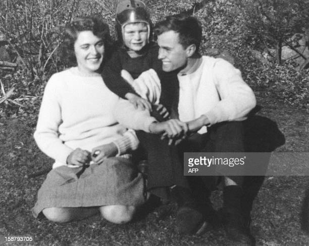 George Herbert Walker Bush poses with his wife Barbara and his brother Bucky in the 1940's Born 12 June 1924 in Milton Massachussetts George Bush...
