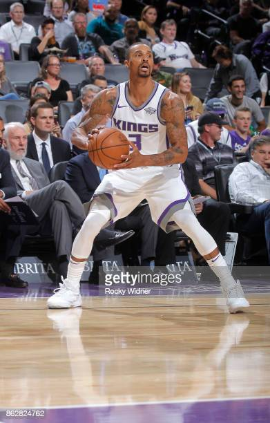 George Hill of the Sacramento Kings handles the ball against the San Antonio Spurs on October 2 2017 at Golden 1 Center in Sacramento California NOTE...