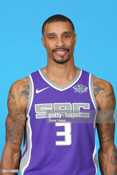 George Hill of the Sacramento Kings poses for a head shot at media day on September 25 2017 at the Golden 1 Center in Sacramento California NOTE TO...