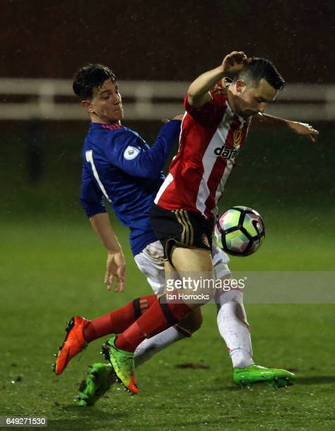 George Honeyman of Sunderland during the Premier League 2 match between Sunderland U23 and Manchester United U23 at the Hetton Centre on March 6 2017...