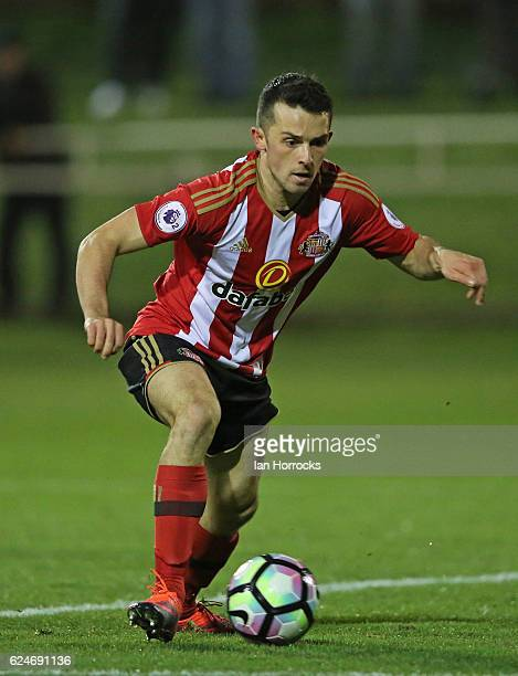 George Honeyman of Sunderland during the U23 Premier League International Cup match between Sunderland and Benfica at The Hetton Centre on November...