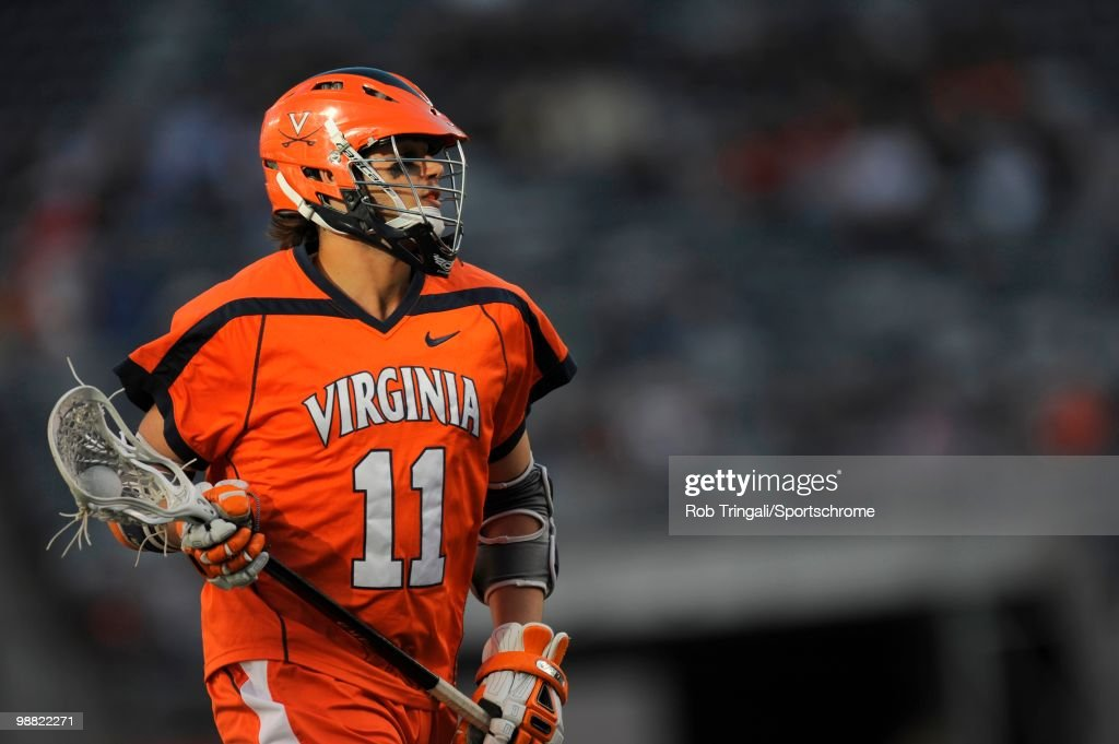 George Huguely Of the Virginia Cavaliers in action against the North Carolina Tar Heels during the Big City Lacrosse Classic at the New Meadowlands...