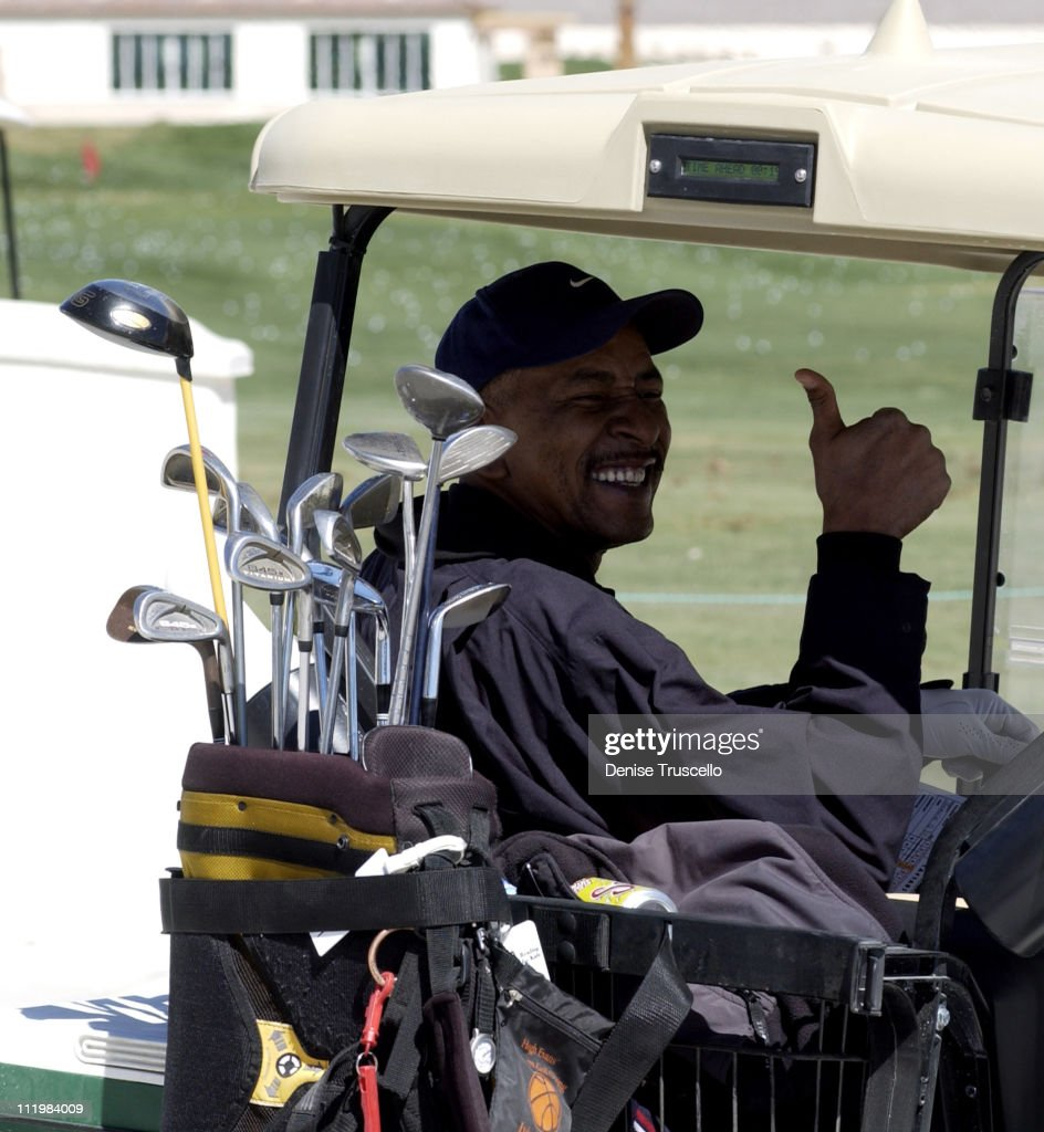 George 'Iceman' Gervin during Las Vegas Celebrity Classic Golf Pro AM at Silverstone Golf Course in Las Vegas Nevada United States