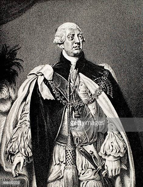 George III King of Great Britain and Ireland later King of the United Kingdom and of Hanover Engraving