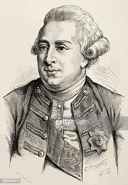 George III King of Great Britain and Ireland later King of the United Kingdom and of Hanover Engraving 'Nuestro Siglo' 1883