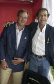George Ivar Louis Mountbatten 4th Marquess of Milford Haven and guest attend the Veuve Clicquot Gold Cup Finals Day at Cowdray Park Polo Club...