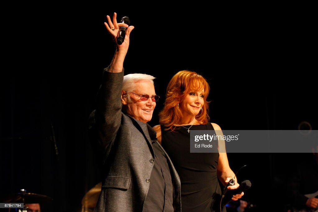 George Jones and Reba McEntire attend the 2009 Country Music Hall of Fame Medallion Ceremony on May 17, 2009 in Nashville, Tennessee.