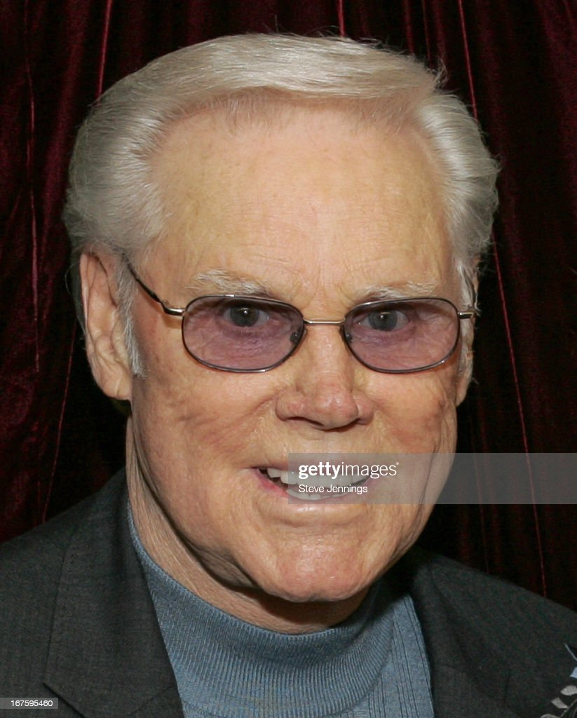 George Jones portrait backstage on February 23, 2006 in Los Angeles, California.