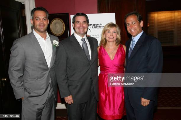 George K Kollitides II Dr Robert Grant Sharon Bush and Dr Kevin Plancher attend ORTHOPAEDIC FOUNDATION for ACTIVE LIFESTYLES host a pregala cocktail...
