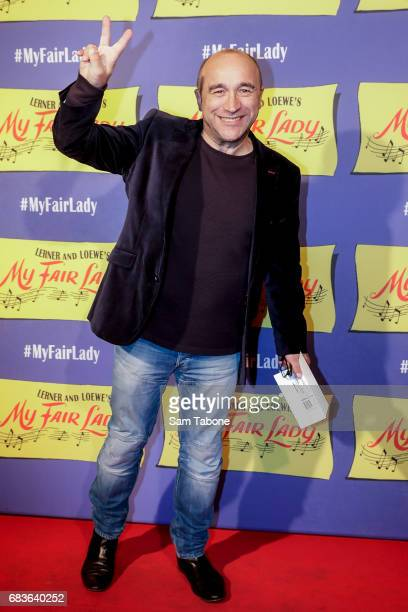 George Kapiniaris arrives ahead of opening night of My Fair Lady at Regent Theatre on May 16 2017 in Melbourne Australia