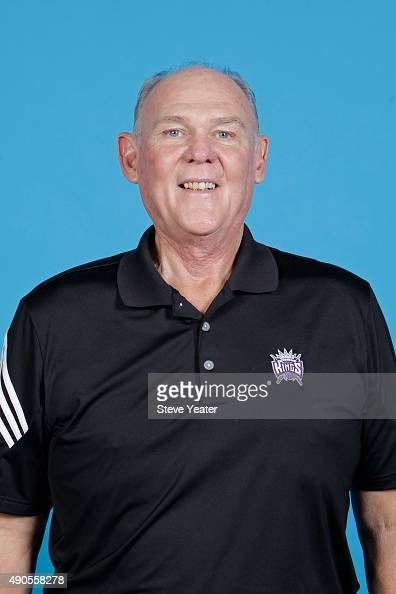 George Karl of the Sacramento Kings poses for a head shot on media day September 28 2015 at the Kings practice facility in Sacramento California NOTE...